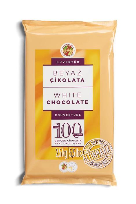 ALT16 Beyaz Kuvertür Çikolata 2,5Kg