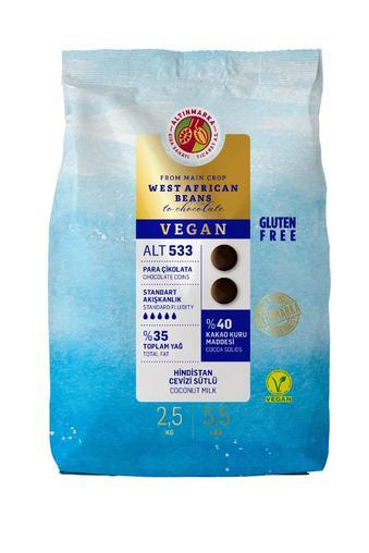 ALT533 Hindistan Cevizi Sütlü Vegan Mini Para Çikolata  2,5 Kg